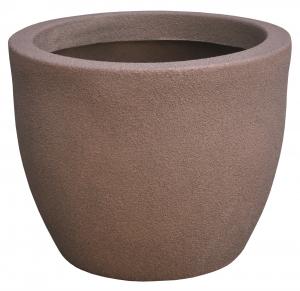 Ghiveci PE modern, rotund, imitație piatră, model RUMBA L0