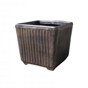 Ghiveci PE vintage, pătrat, model TWIST pătrat L0