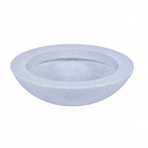 Ghiveci PE minimalist, rotund, imitație granit, model BALLET 6000