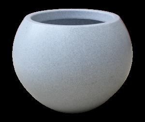 Ghiveci PE modern, rotund, imitație granit, model SWING L0