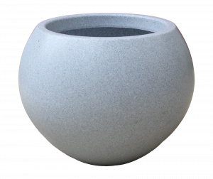 Ghiveci PE modern, rotund, imitație granit, model SWING S0