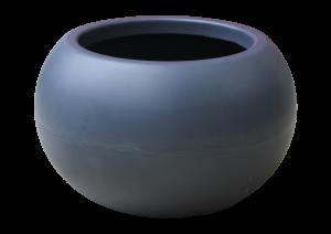 Ghiveci PE modern, rotund, imitație granit, model SWING LOW S0