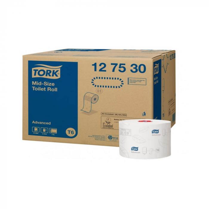 Hartie igienica Tork Advanced T6, 2 straturi, 100 m 1