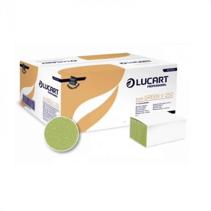 Prosoape pliate verzi, 1 strat, V250 Lucart Easy Green [0]