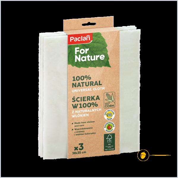 Laveta curatenie din vascoza si porumb, 100% materiale naturale (3 buc) - Paclan for Nature 0