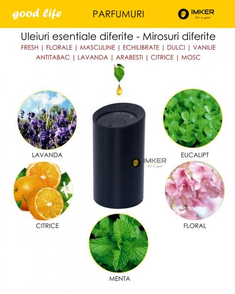 Aparat de odorizare profesional IMKER AromaLUX XS03.AC - cu acumulator (parfum inclus) 9