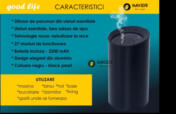 Aparat de odorizare profesional IMKER AromaLUX XS03.AC - cu acumulator (parfum inclus) 8