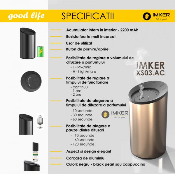 Aparat de odorizare profesional IMKER AromaLUX XS03.AC - cu acumulator (parfum inclus) 6