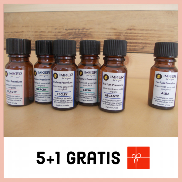 Pachet 5 + 1 GRATIS Arome din uleiuri esentiale IMKER 0