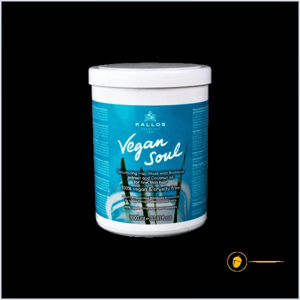 Pachet Sampon + Masca hidatanta KALLOS Vegan Soul, 100% vegan, 1+1 l 1