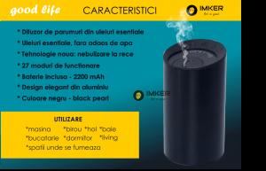 Aparat de odorizare profesional IMKER AromaLUX XS03.AC - cu acumulator (parfum inclus)8