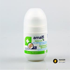 Pachet 2 x Amalfi gel roll-on igienizant rapid pentru maini, ideal pentru utilizare in masina, 78% alcool, 70 ml0