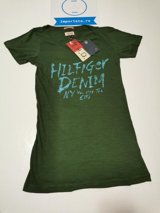 Tricou verde dama Hilfiger Denim 0