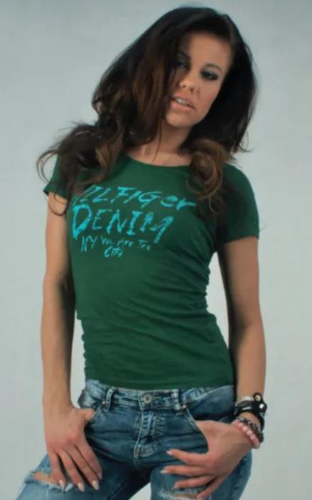 Tricou verde dama Hilfiger Denim 3