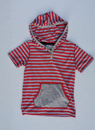 Tricou cu gluga, in dungi RL Sovereign Coder [4]