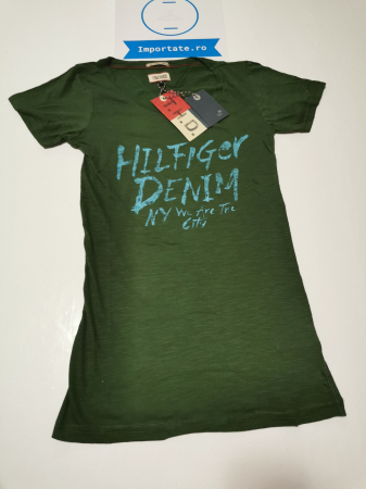 Tricou verde dama Hilfiger Denim0