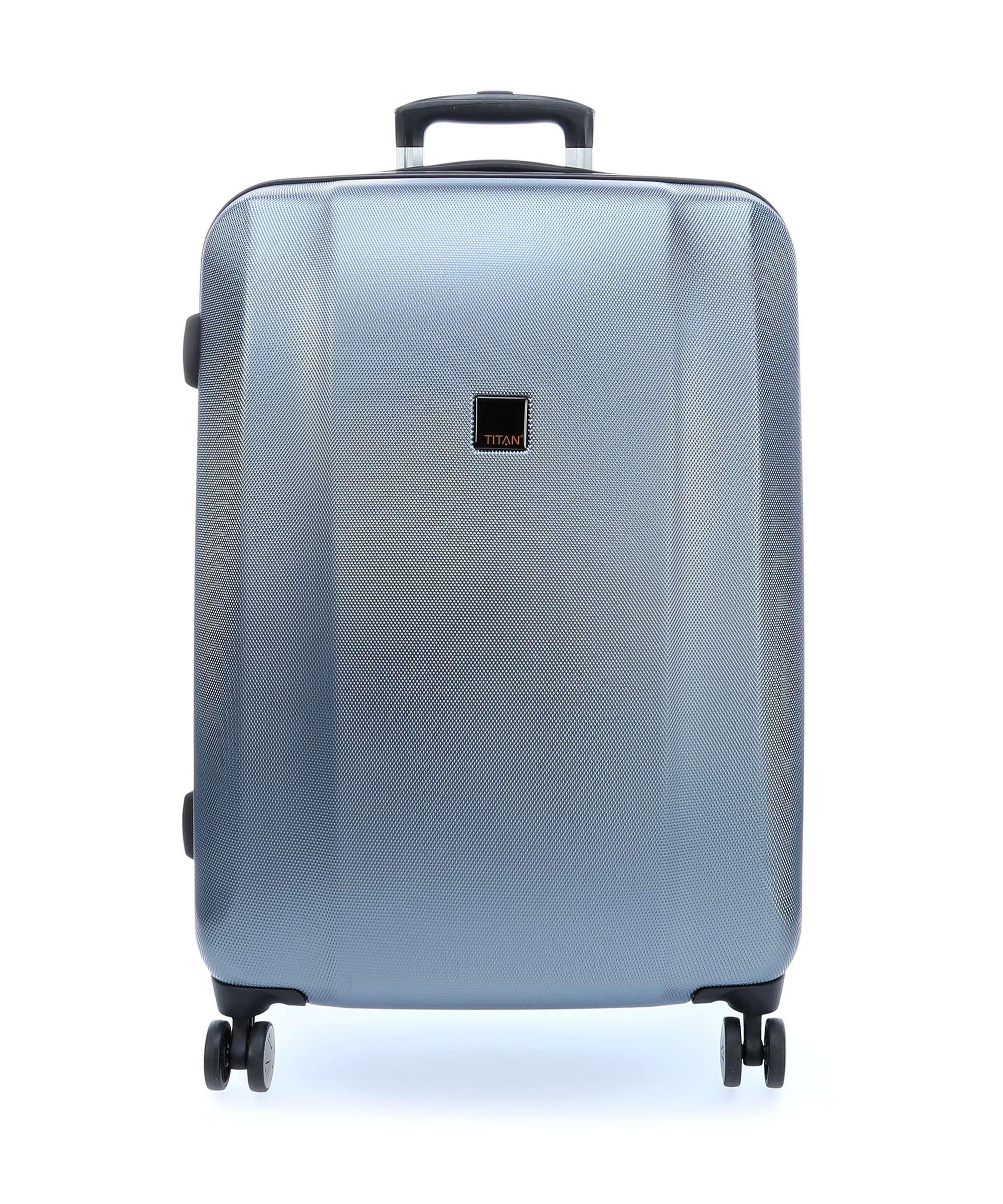 Troler de cabina cu USB - TITAN XENON 4 roti 55 cm (S) - Albastru