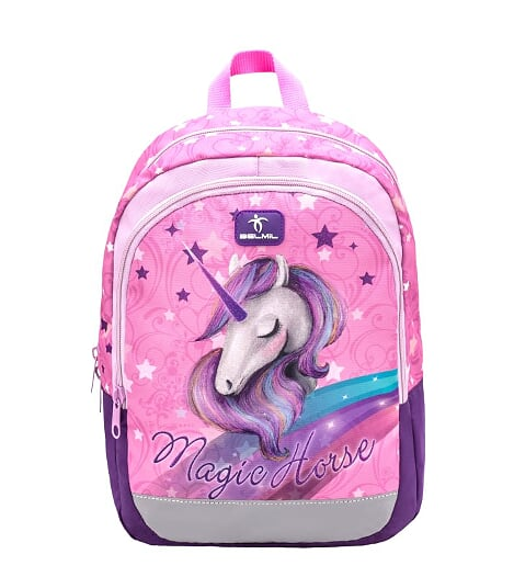 Ghiozdan de gradinita  BELMIL Kiddy Unicorn