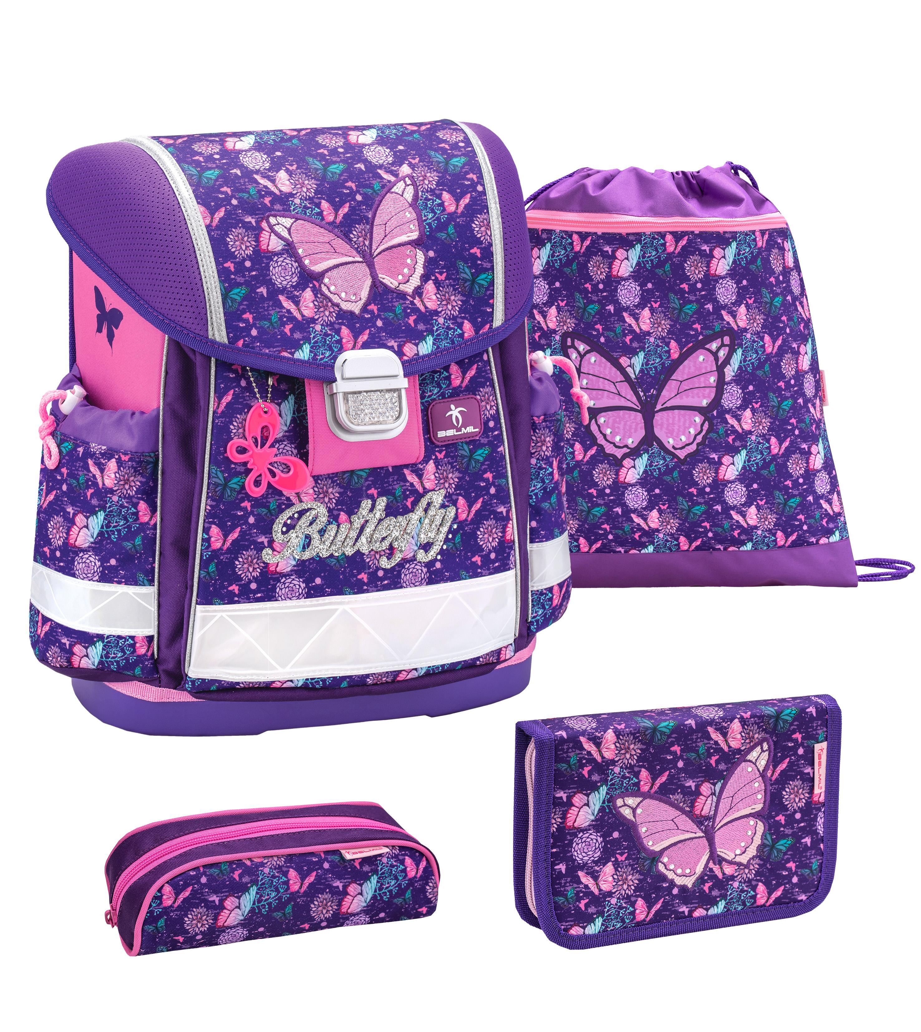 Ghiozdan BELMIL SET Classy Butterfly