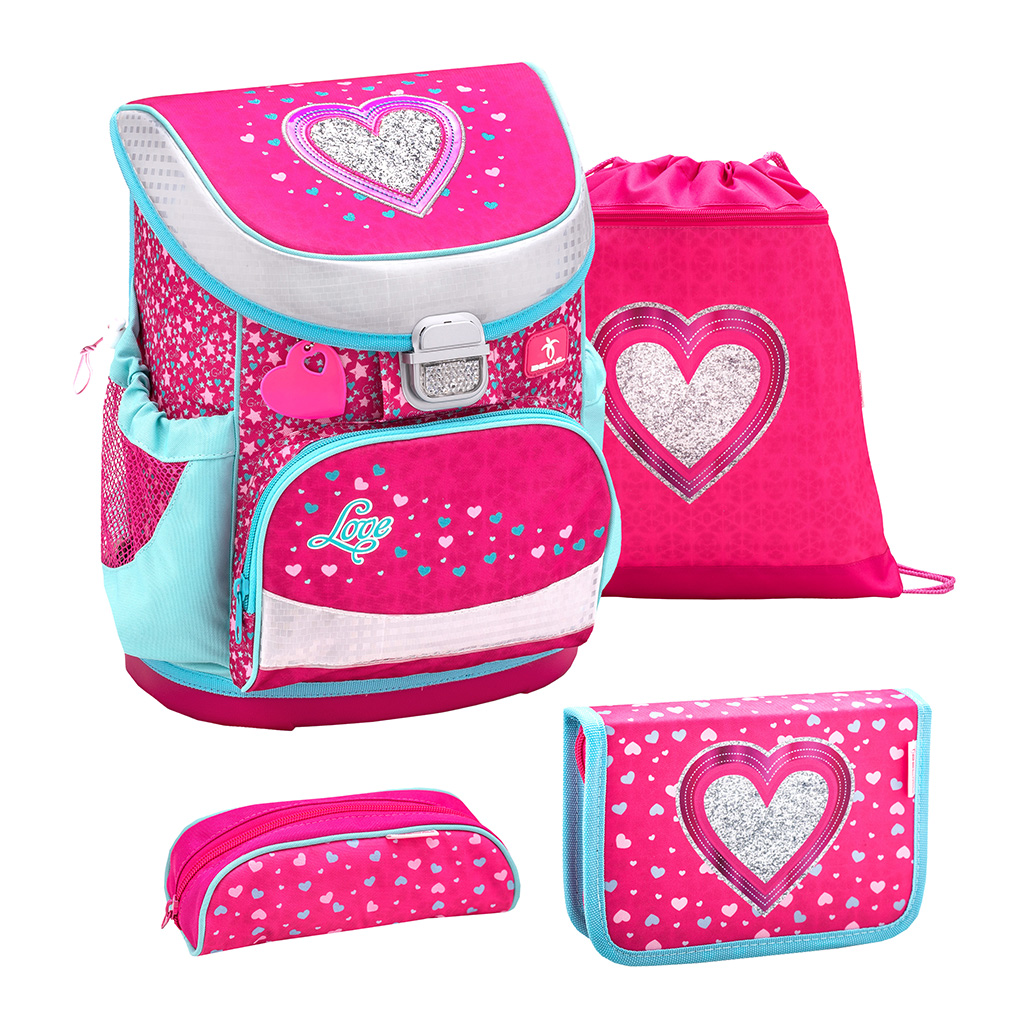 Ghiozdan BELMIL SET Mini fit - Heart