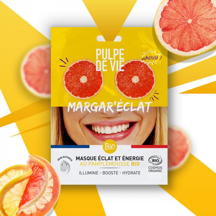 """Mască energizantă iluminatoare """"Margar'Eclat"""" - Pulpe de vie 0"""