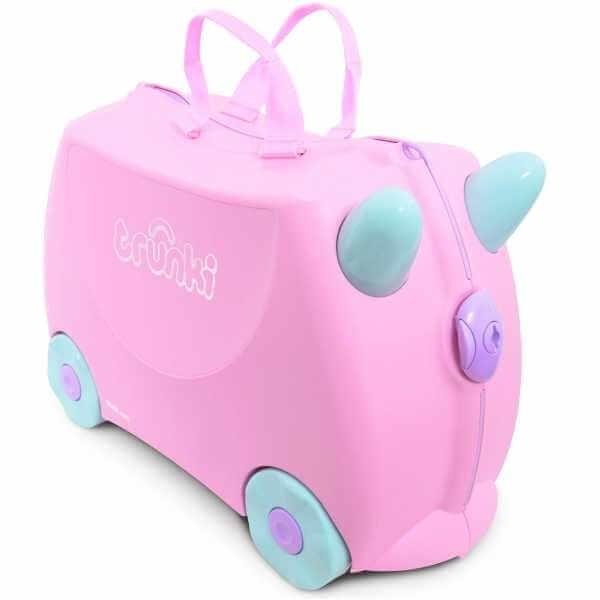 Set travel pentru copii - Valiza TRUNKI Rosie + Trunki Tidy Bag Pink [1]