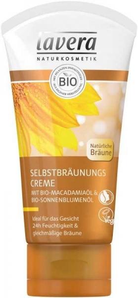 Crema autobronzanta pentru ten cu ulei de macadamia, 50 ml - LAVERA 0