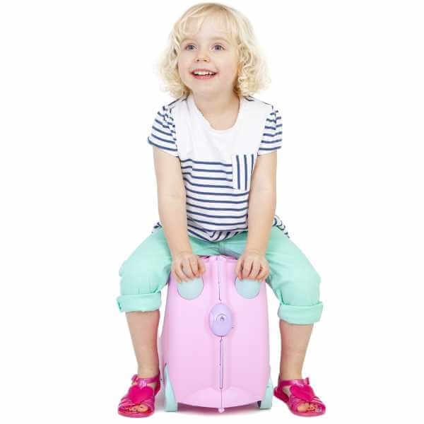 Set travel pentru copii - Valiza TRUNKI Rosie + Trunki Tidy Bag Pink 2