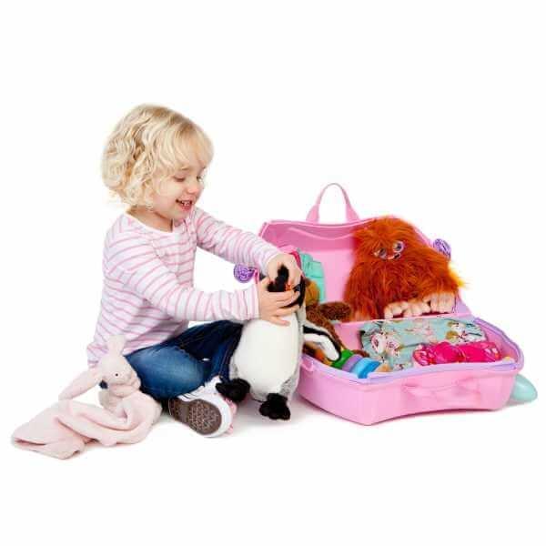 Set travel pentru copii - Valiza TRUNKI Rosie + Trunki Tidy Bag Pink 3