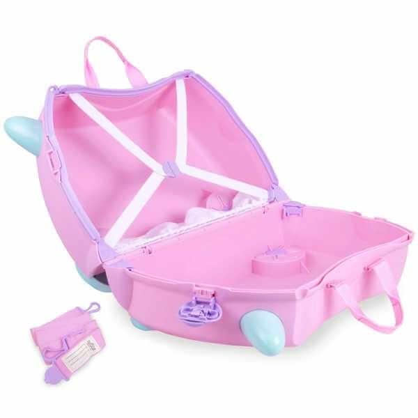 Set travel pentru copii - Valiza TRUNKI Rosie + Trunki Tidy Bag Pink 4
