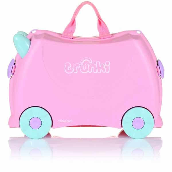 Set travel pentru copii - Valiza TRUNKI Rosie + Trunki Tidy Bag Pink 5