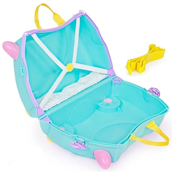 Set travel pentru copii - Valiza TRUNKI UNA - Unicornul + Perna calatorie Trunki Yondi Pink 5