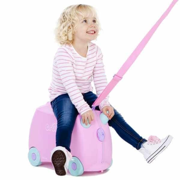 Set travel pentru copii - Valiza TRUNKI Rosie + Trunki Tidy Bag Pink 6