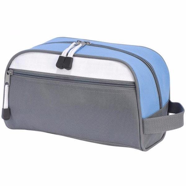 Geanta cosmetice travel gri/bleu 0