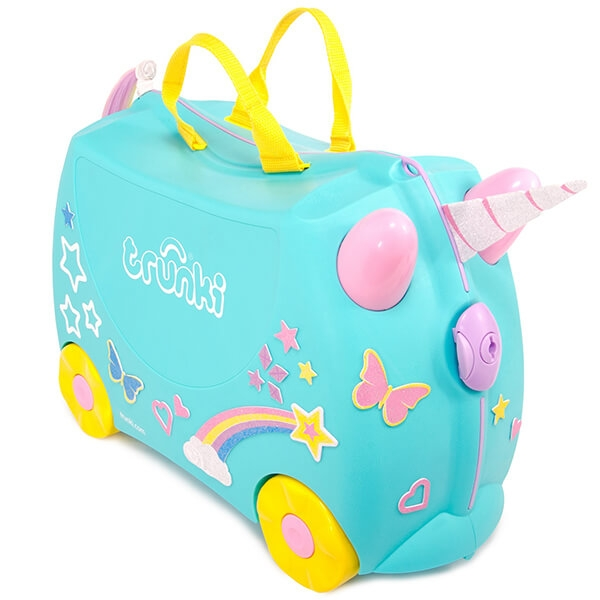 Set travel pentru copii - Valiza TRUNKI UNA - Unicornul + Perna calatorie Trunki Yondi Pink 8