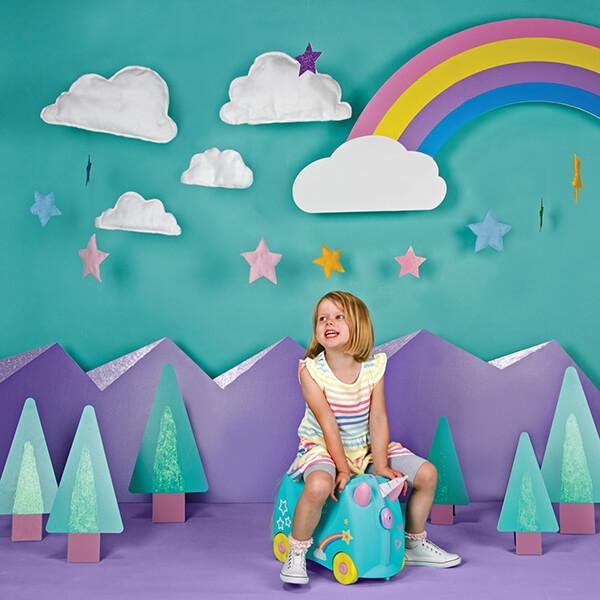 Set travel pentru copii - Valiza TRUNKI UNA - Unicornul + Perna calatorie Trunki Yondi Unicorn [9]