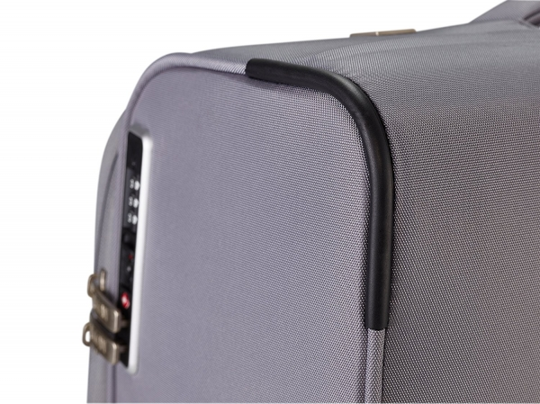 Troler TITAN - SPOTLIGHT Textil 4 roti duble M - 65 cm- Gri Sorbet/Multicolor 6