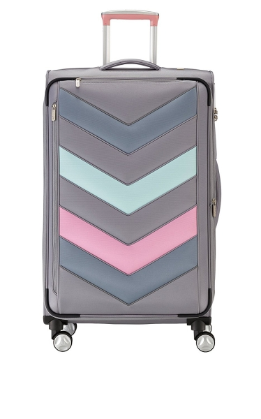 Troler TITAN - SPOTLIGHT Textil 4 roti duble L - 76 cm- Gri Sorbet/Multicolor 0