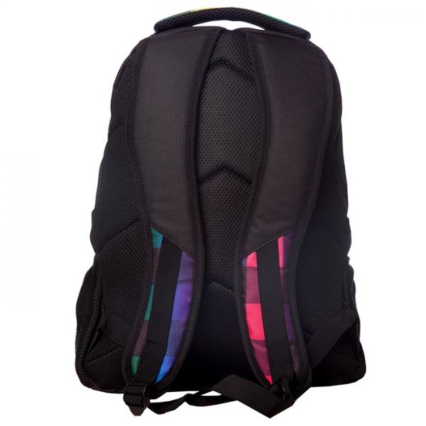 Rucsac Rainbow Negru/multicolor Lamonza