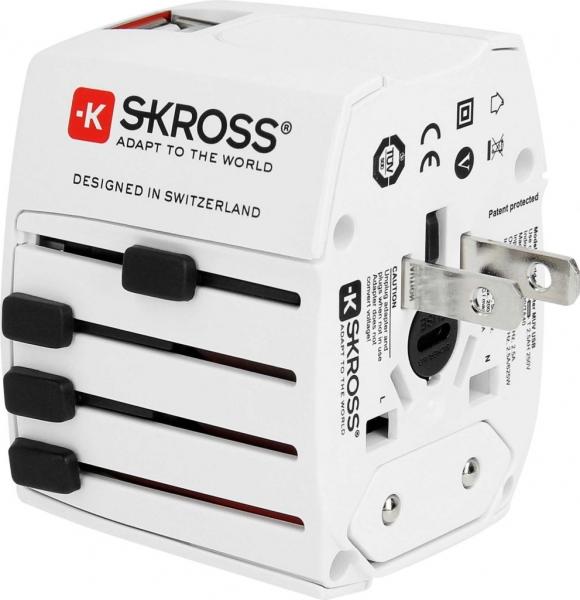 Adaptor priza universala cu 2XUSB Skross