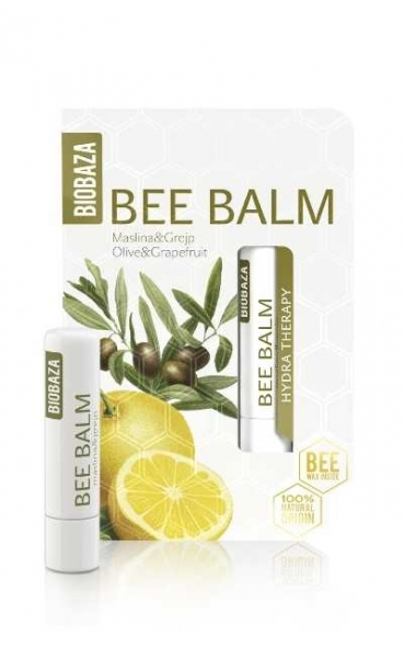 Balsam de buze cu ulei de masline si grapefruit  - BIOBAZA 0