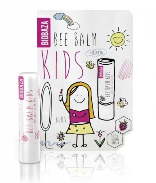 Balsam de buze pentru copii cu zmeura - BIOBAZA 0