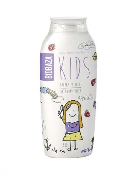 Balsam de par natural pentru copii (smochine si capsuni), 250 ml - BIOBAZA 0