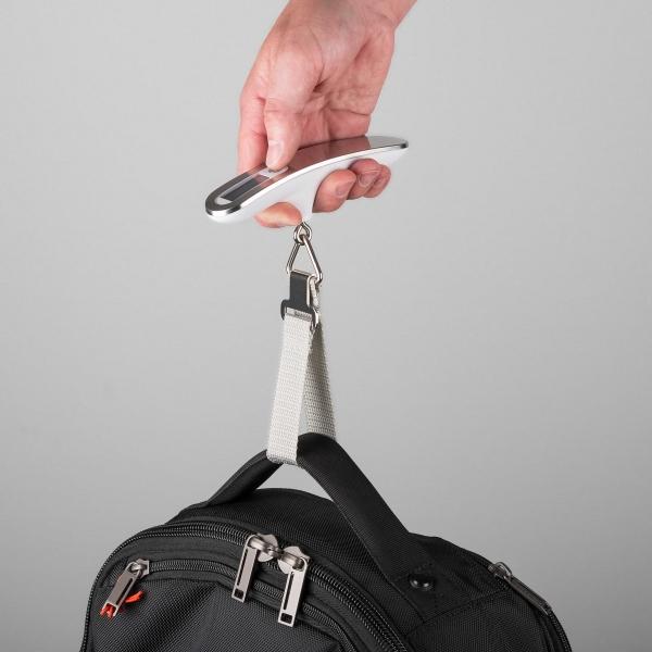 Cantar digital bagaje alb/argintiu 50kg 2