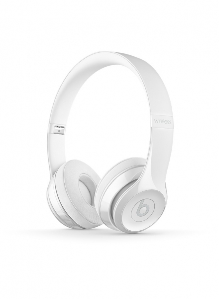 Casti Beats Solo3 Wireless On-Ear Headphones - Gloss White - mnep2zm [0]