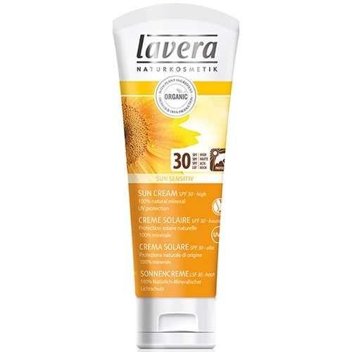 Crema protectie solara inalta FPS 30, piele sensibila, 75 ml - LAVERA 0