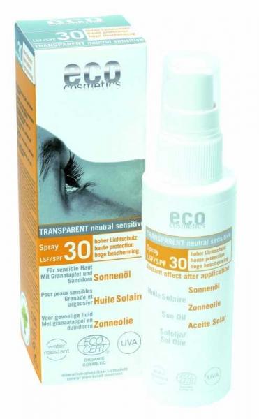 Ulei de plaja bio pentru fata si corp cu protectie solara inalta FPS 30 - Eco Cosmetics 0