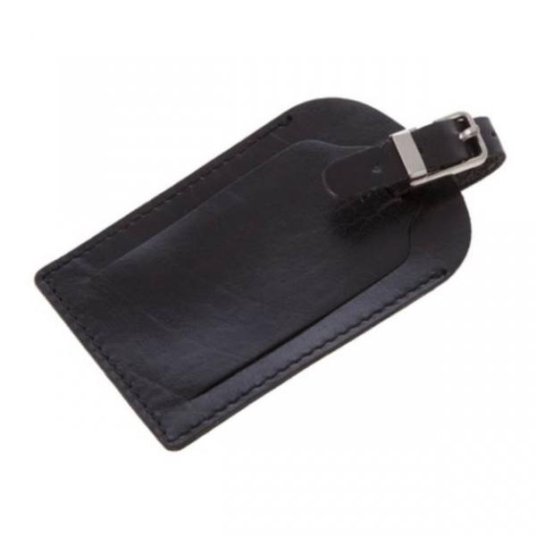 Eticheta de bagaj din piele Mauro Conti - Negru [0]