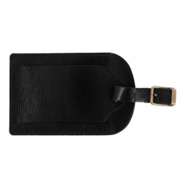 Eticheta de bagaj din piele Mauro Conti - Negru [3]
