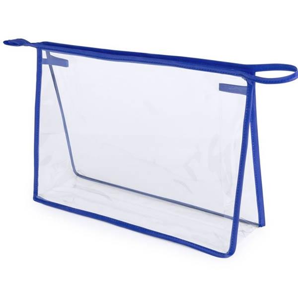 Geanta cosmetice transparenta - Contur Albastru 0